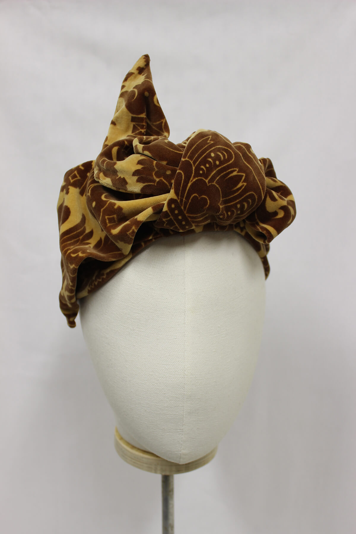 Hair wrap millinery available to buy.