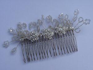 handmade beaded comb.
